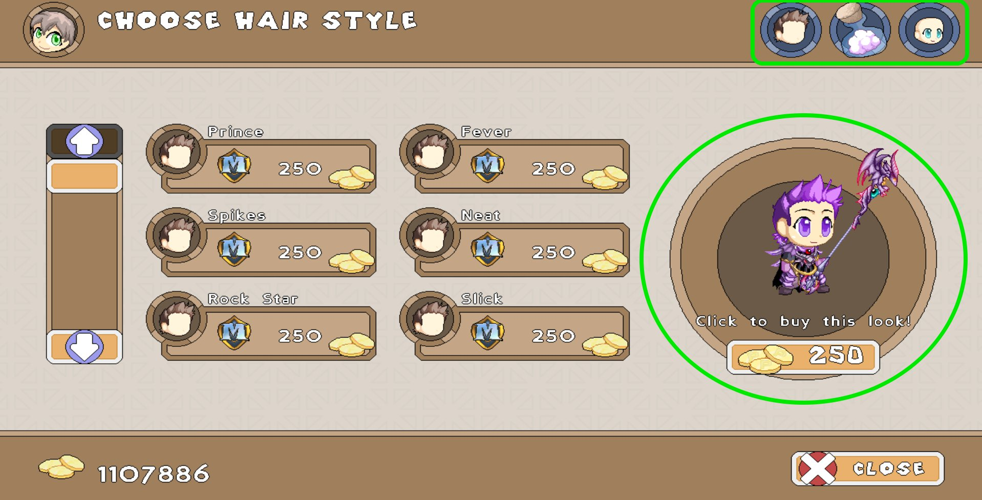 It Will Cost You 250 Gold Each Time Change Your Appearance So Make Sure Like Look Before Clicking To Buy