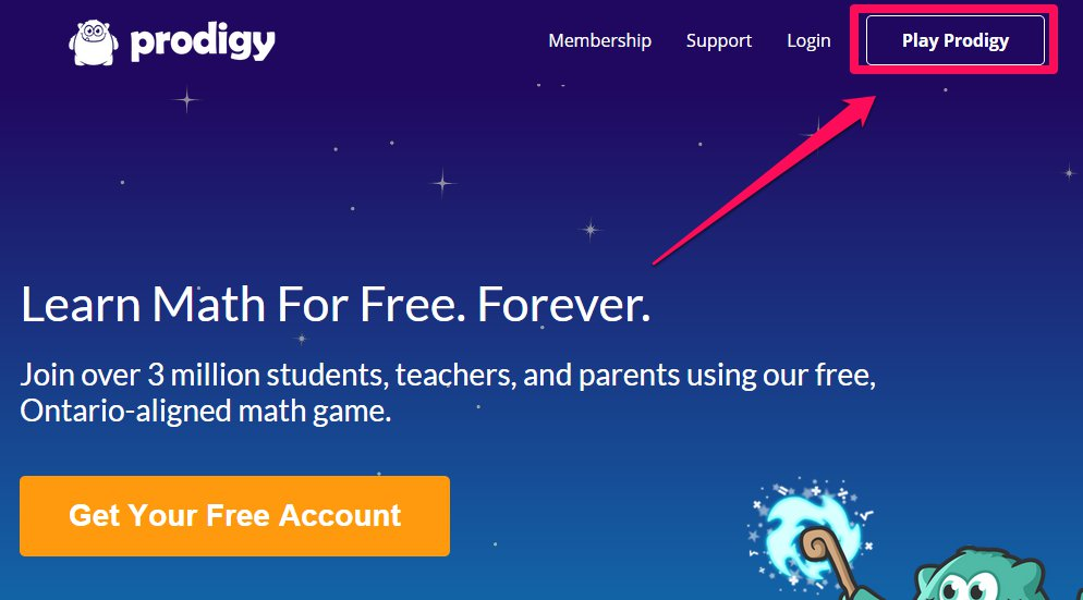 student prodigy accounts class codes prodigygame login game bottom button select left link